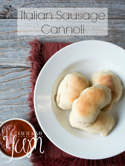 Italian Sausage Cannoli- A homemade roll stuffed with Italian Sausage and Cheese
