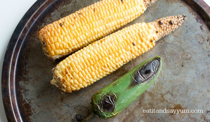 Roasted Corn and Jalapeno for Salsa