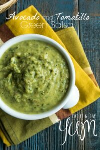 Tomatillo and Avocado Green Salsa from Eat It & Say Yum