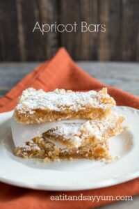 Apricot Bars are easy to make and taste delicious. A light and refreshing dessert