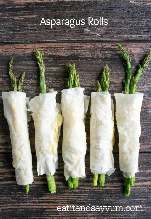 Asparagus Rolls Appetizer at Eat It and Say Yum