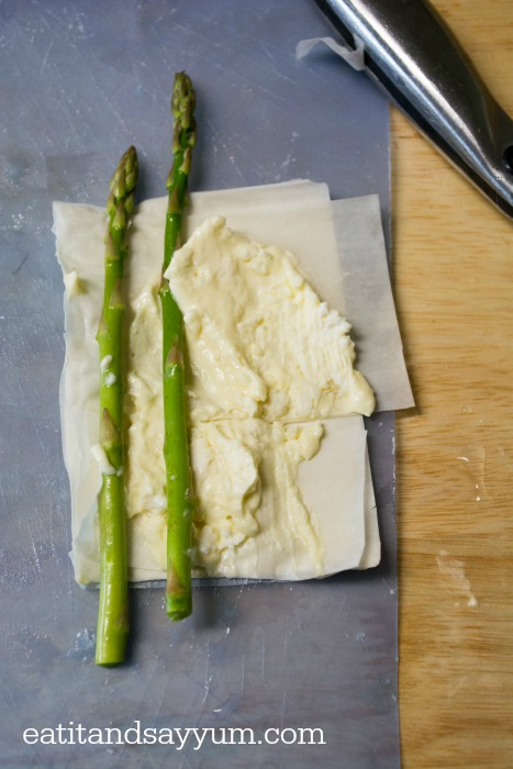 Asparagus Rolls in Filo Dough