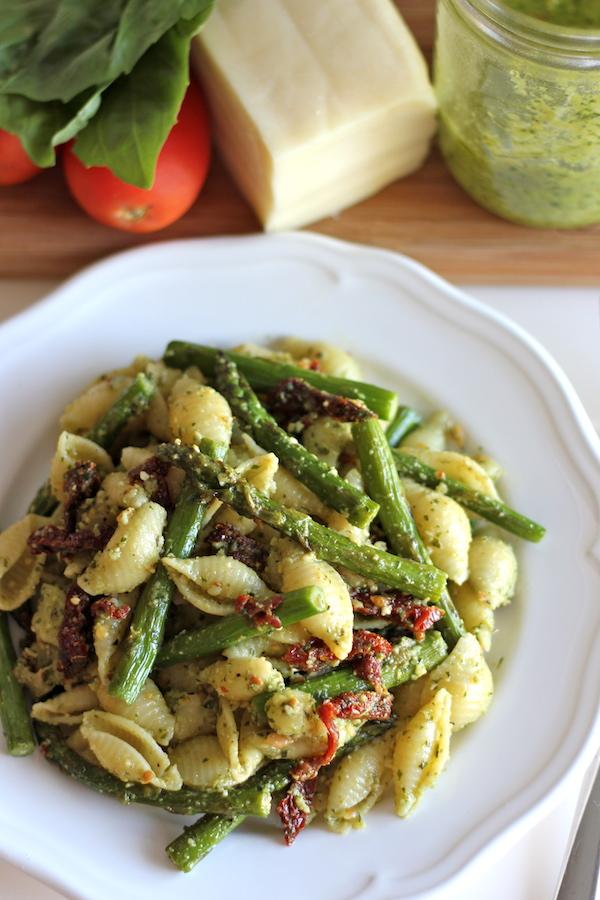 Asparagus pasta- damn delicious