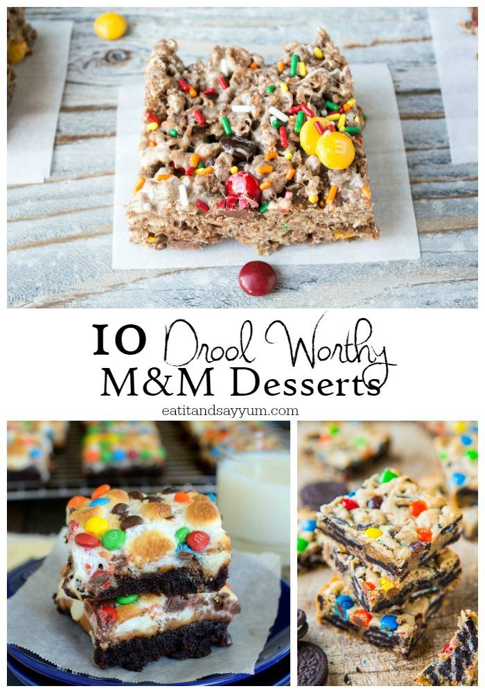 M&M desserts