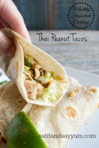 Thai Peanut Tacos #MonthlyIngredientChallenge via eatitandsayyum.com