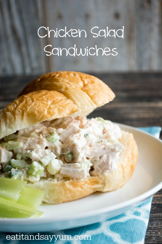 Chicken Salad Sandwiches on Croissants