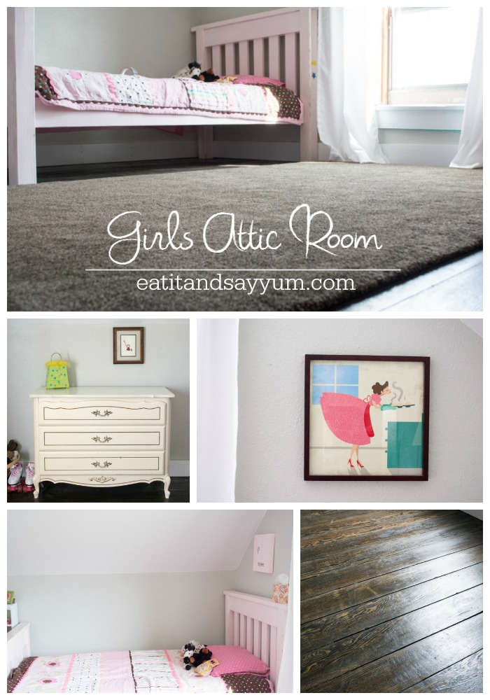 Girls Attic Room reveal from Eat It & Say Yum