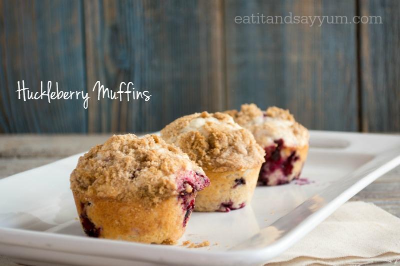 Huckleberry Muffins- vie eatitandsayyum.com