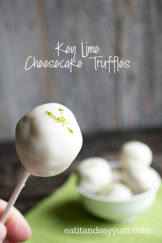 Key Lime Cheesecake Truffles from Eat It & Say Yum
