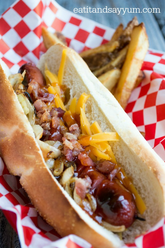 Cowboy Dogs with Homemade Hot Dog Sauce
