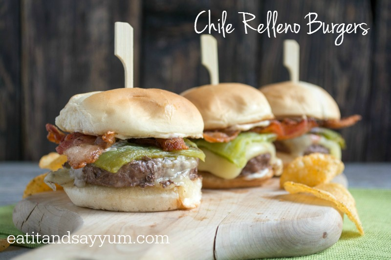Chile Relleno Burgers with Bacon