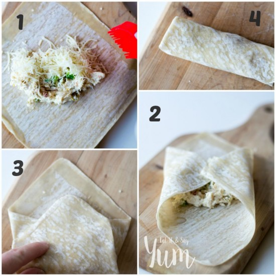 Step by Step how to fold egg rolls