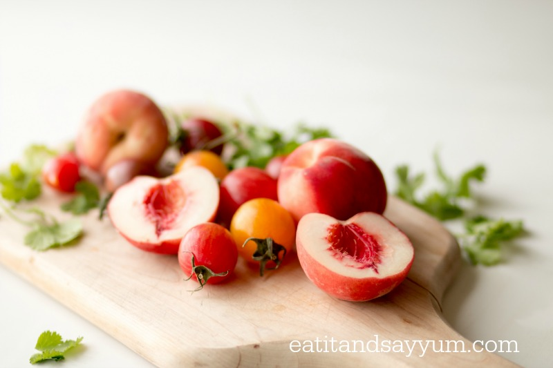 White Peaches and Heirloom Tomatoes