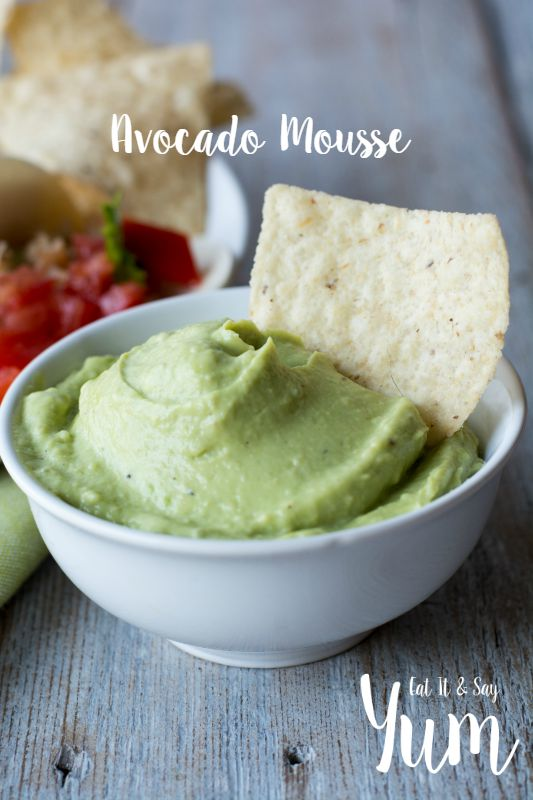 Avocado Mousse is creamy and smooth and perfect for dipping chips or topping your favorite tacos, or burgers...