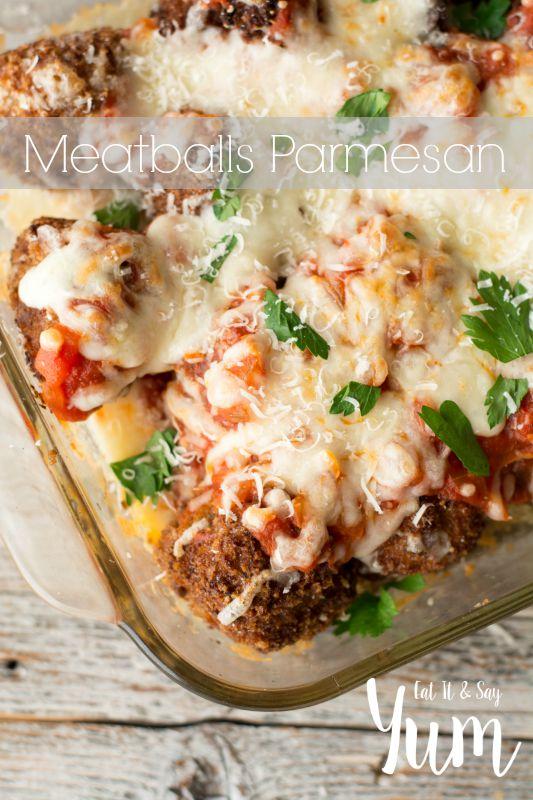 Meatballs Parmesan