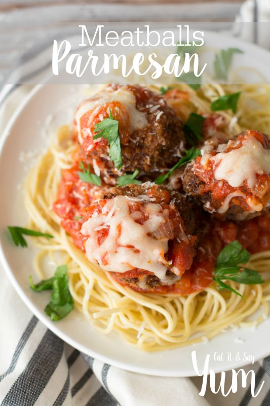Meatballs Parmesan recipe- new comfort food, that is cheesy and delicious!
