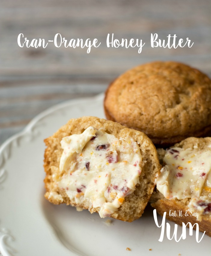 Cran-Orange Honey Butter a delicious spread with great fall flavors