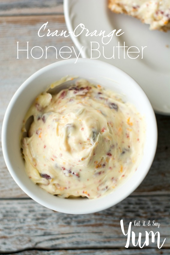 Cran-Orange honey Butter- great for spreading on rolls, muffins, pancakes, etc.