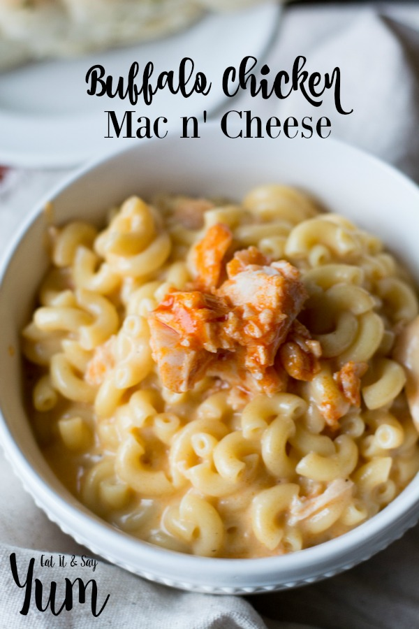 Buffalo Chicken Mac 'n Cheese- perfect comfort food, with a kick