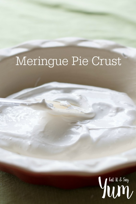 Making a Meringue Pie Crust
