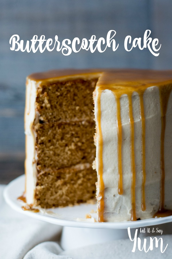 Butterscotch Bake with browned butter frosting and spiced molasses butterscotch sauce- delicious dessert