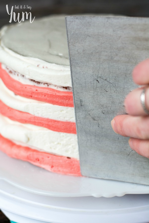 How to frost a Candy Cane Cake