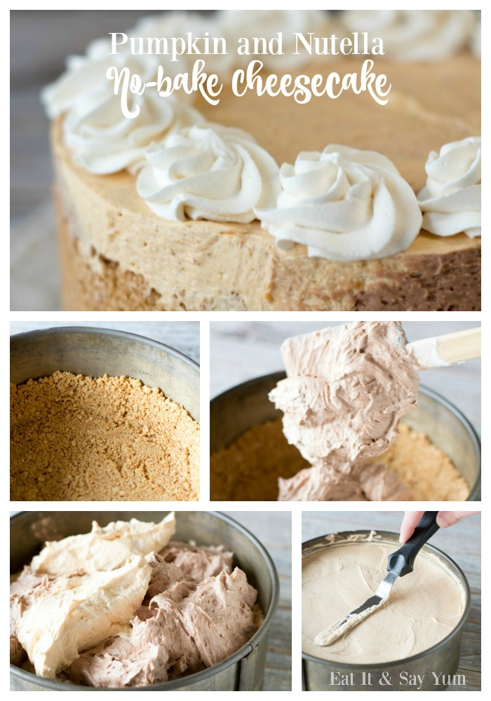 Pumpkin and Nutella No-bake Cheesecake- easy to make and so yummy to eat