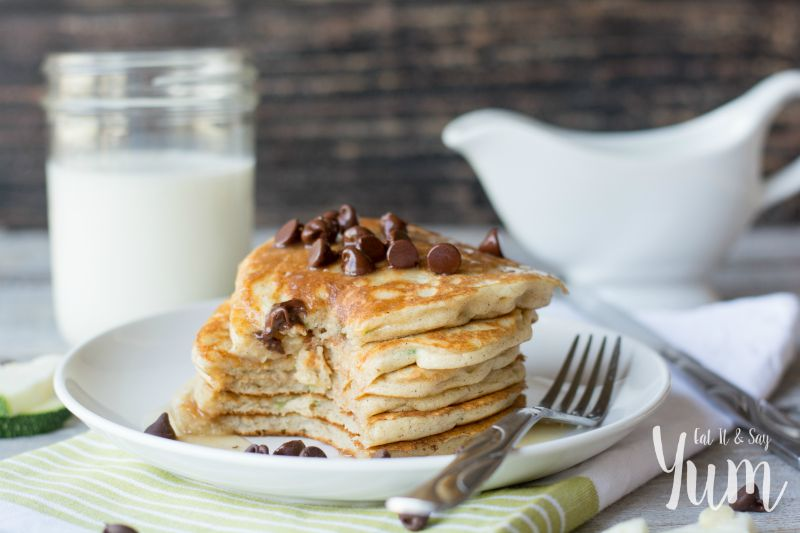 Zucchini Pancakes with chocolate chips- easa few more veggies into your diet