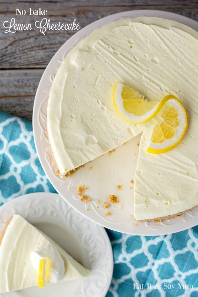 Lemon Cheesecake- made with Jello, and So bright and fresh for Spring and Summer