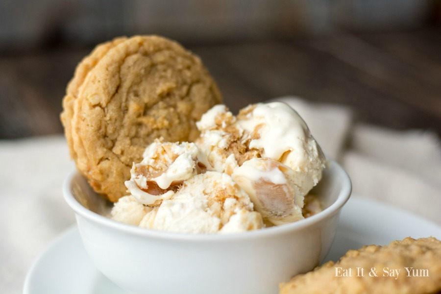 Peanut Butter Cookie Ice Cream- No-churn ice cream