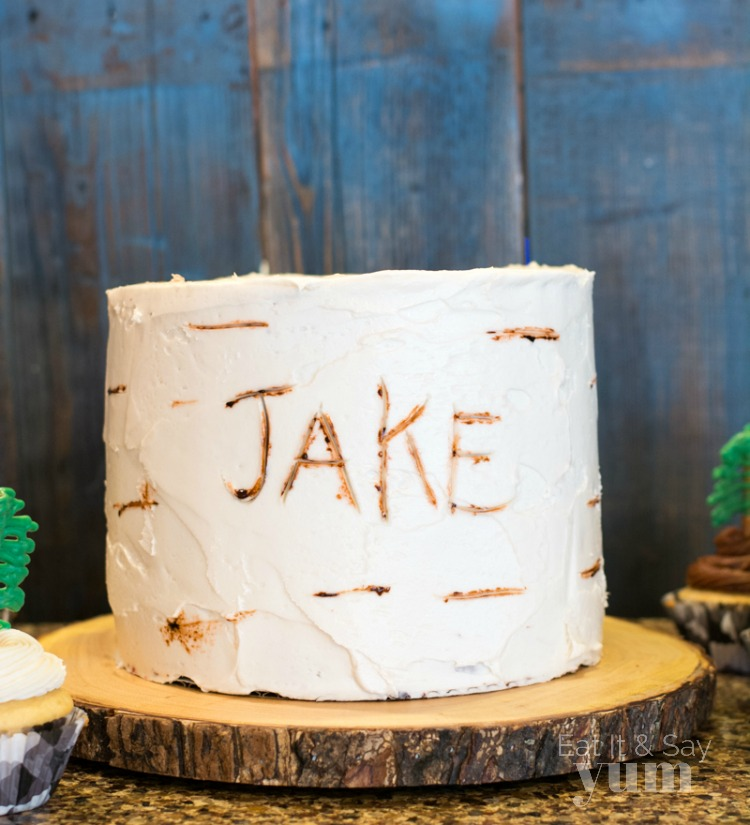 Lumberjack birthday cake on Eat It & Say Yum