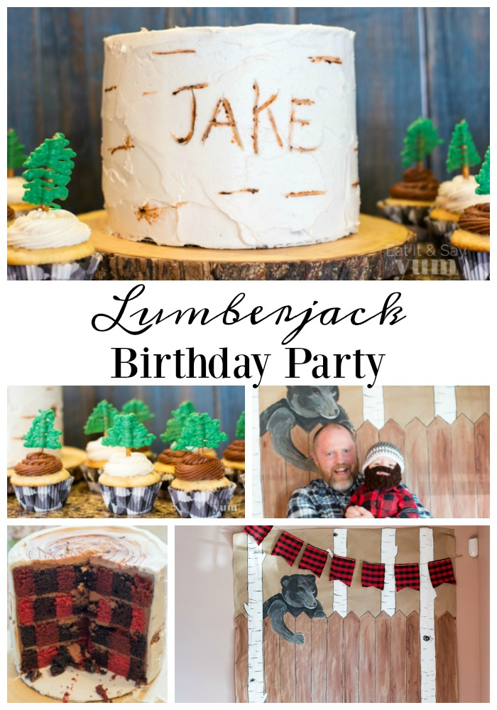 Lumberjack birthday party from Eat It & Say Yum- great idea for baby boys first birthday