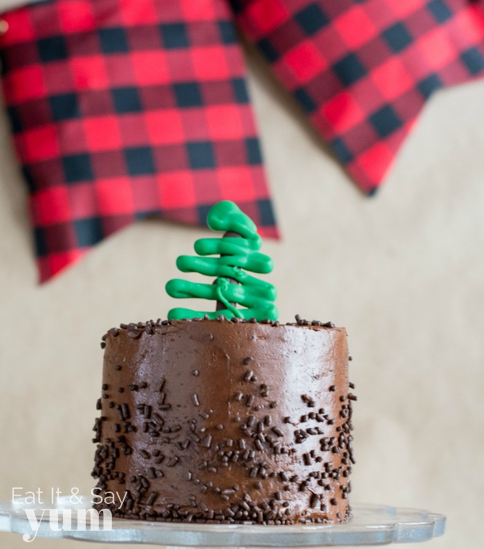 Lumberjack birthday smash cake